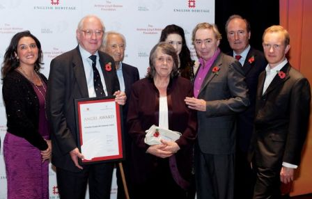 Michael and Andrea Taylor receive the English Heritage Heritage Angel Award