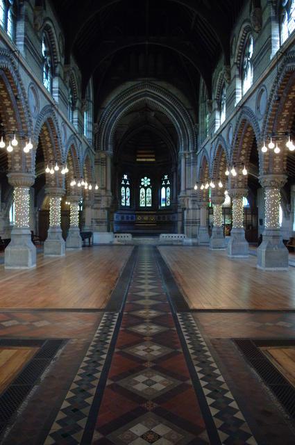 Internal - Natural light length of Hall